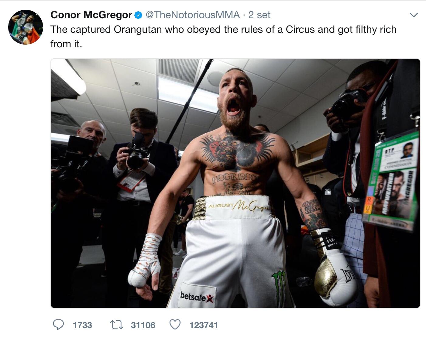 McGregor on twitter