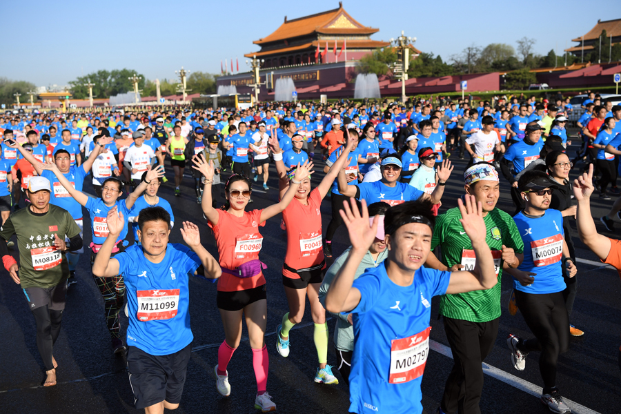 "cover The ""running"" phenomenon in China. A business opportunity for Italian marathons and companies?"